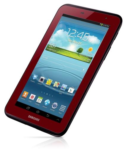 عرضه Galaxy Tab 2 7.0 در رنگ قرمز