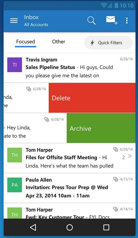 اپلیکیشن مدیریت ایمیل Outlook سرانجام برای ios عرضه شد