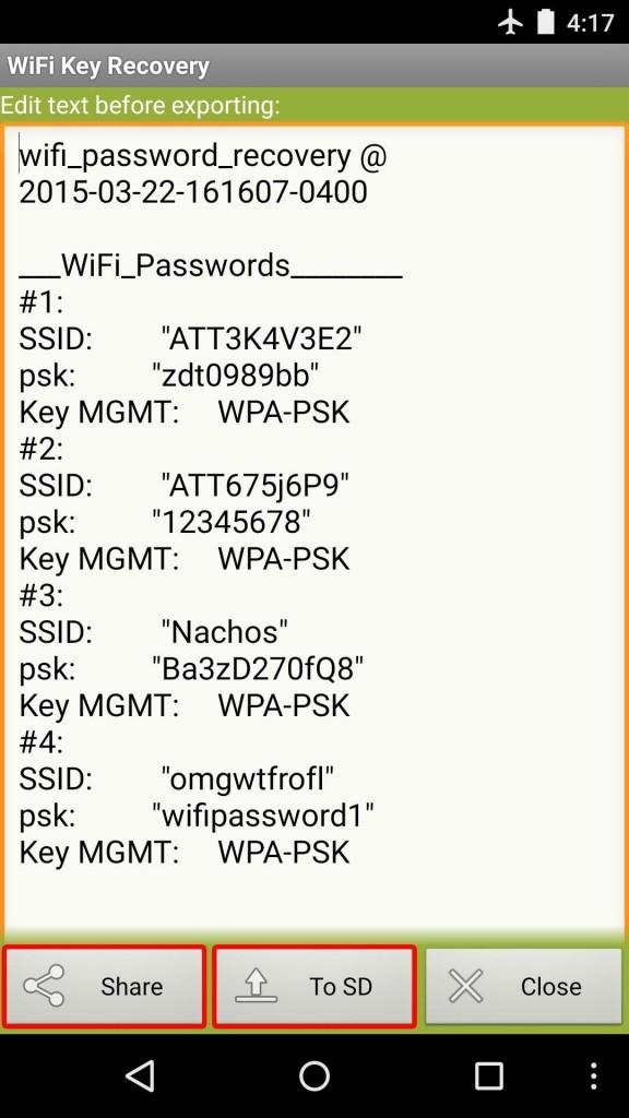 پسورد wifi