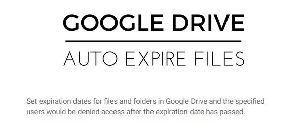 آموزش تعیین زمان انقضا برای فایل های اشتراک گذاشته شده در Google Drive