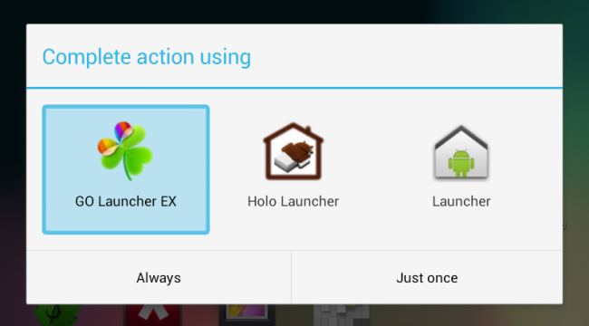 select home screen launcher