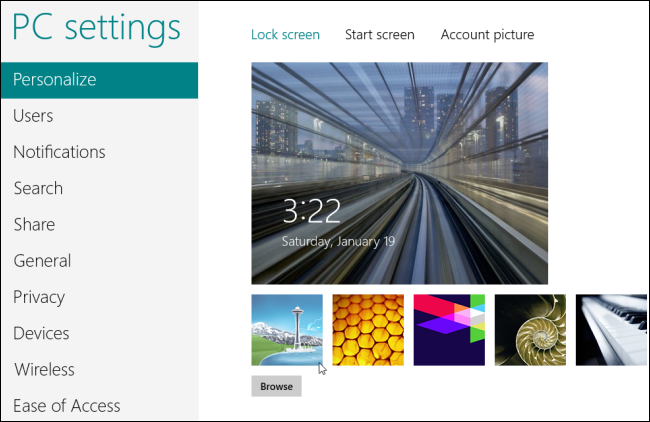 Windows 8-Select Lock Screen Background