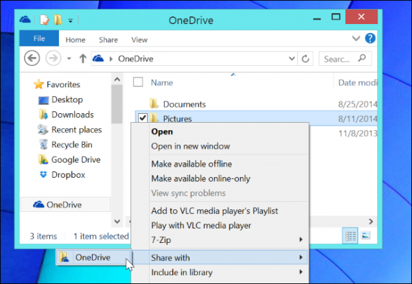 share-onedrive-folders-from-windows-8.1-file-explorer