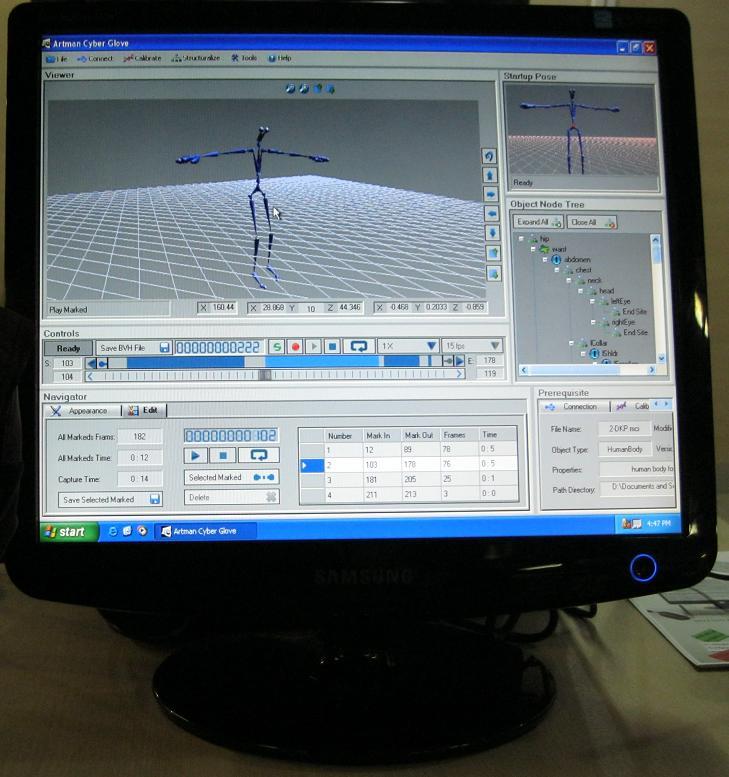 نمونهای از نرمافزارهای شبیهسازی حرکات انسان