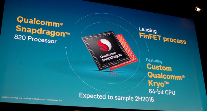 اسنپدراگون ۸۲۰ رونمایی شد: به همراه Kryo CPU و اولین هسته ۶۴بیتی سفارشی کوالکام
