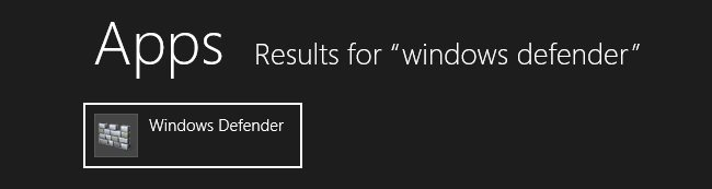 Windows 8 - Windows Defender
