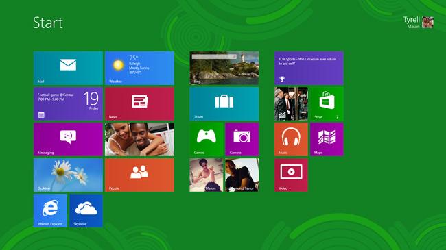 شروع کار با ویندوز 8