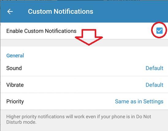 شخصی سازی نوتیفی در تلگرام