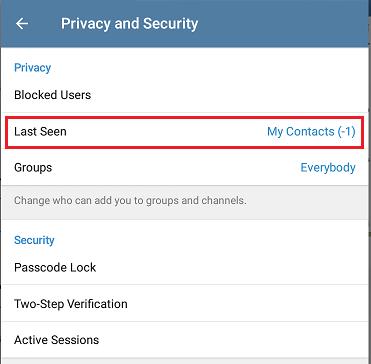 چگونه در تلگرام فقط برای عده خاصی آنلاین باشیم؟
