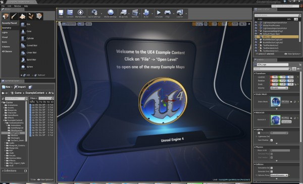 unreal-engine-4-editor-window