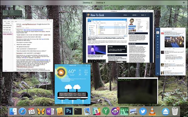 چندین میزکار Desktopsدر مک