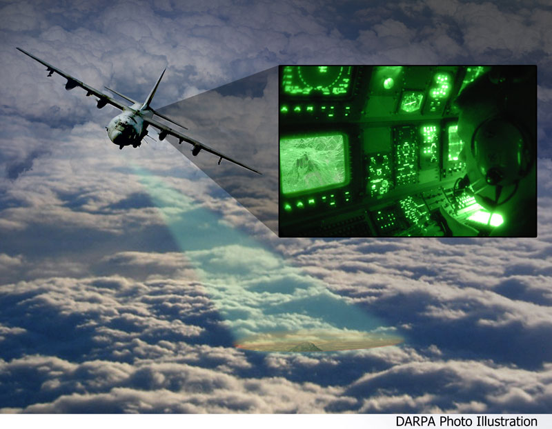 فناوری جدید دارپا در تصویربرداری از اهداف زمینی از روی ابرها