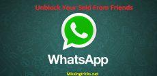 چگونه از لیست بلاک مخاطبین Whatsapp خارج شویم؟