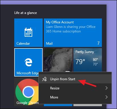 تنظیمات ویندوز 10 برای استارت منو
