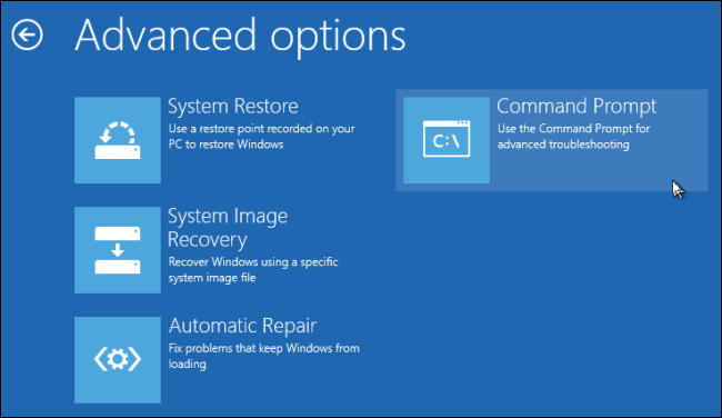 Windows 8 Installer-Launch Command Prompt