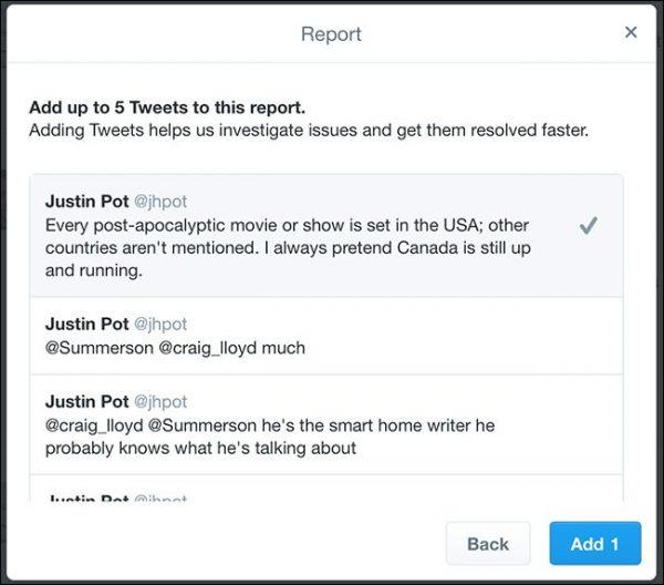 ریپورت کردن در توییتر