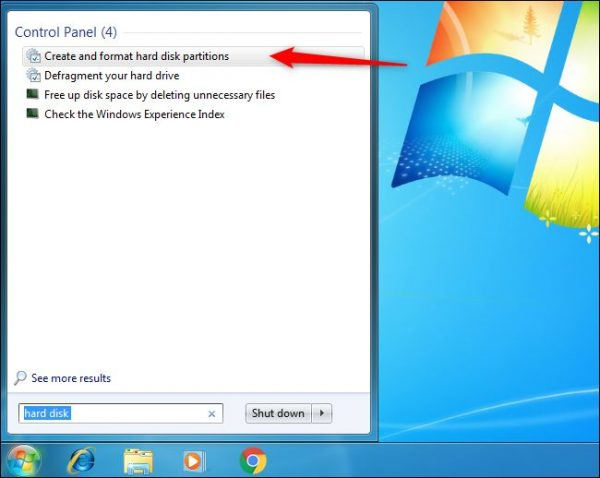 Create and format hard disk partitions