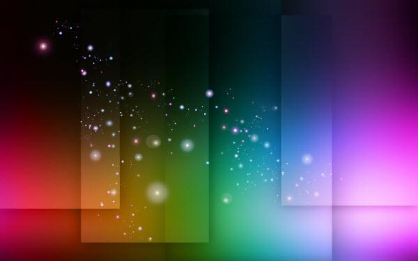 عکس تصویر زمینه به همراه ترکیب رنگ های سرد و گرم و افشانه های جذاب و تلالوهایی که حال و هوای عکس را به کهکشان ها تبدیل می کند