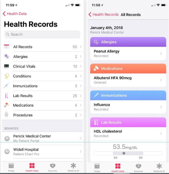 ثبت اطلاعات سلامتی با کمکHealth Records