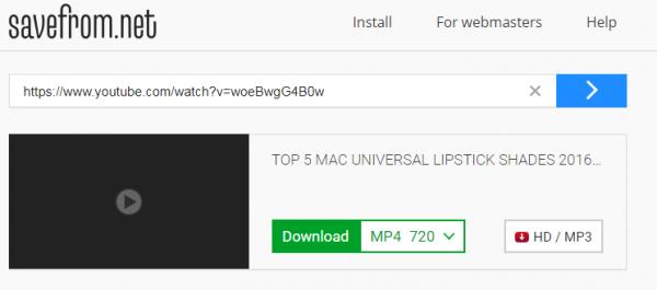 دانلود فیلم های یوتیوب از طریق وب سایتSaveFrom.net