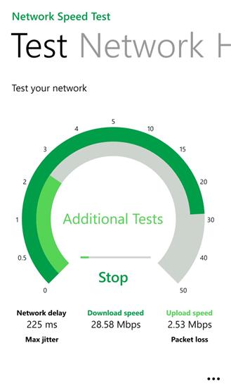 اپلیکیشن Network Speed Test برای ویندوزفون عرضه شد