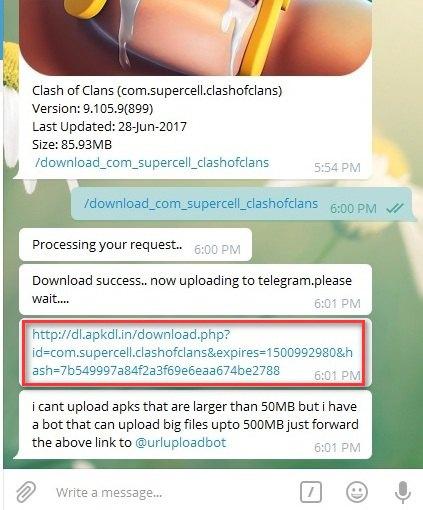 دانلود از گوگل پلی با تلگرام