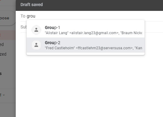 نحوه ایجاد گروه ایمیلی در جیمیل با ارسال از Gmail، outlook