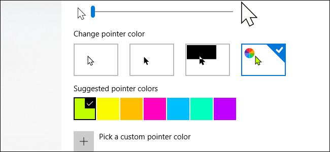راهنمای تغییر اندازه و رنگ نشانگر ماوس در ویندوز 10