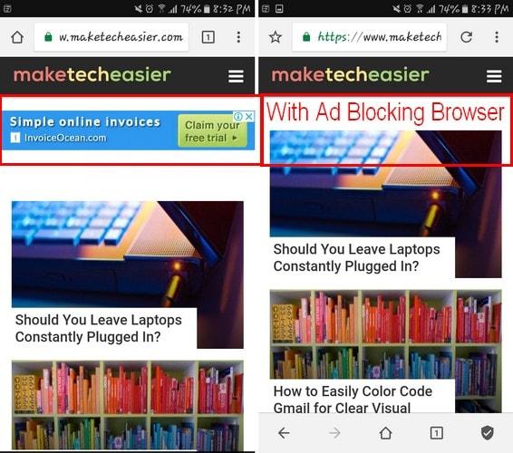 مسدود کردن تبلیغات در اندروید با Free AdBlocker Browser