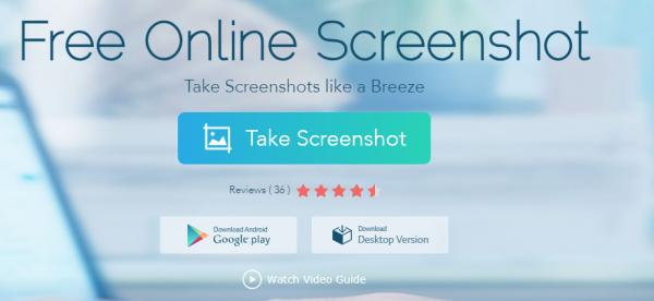 ابزار آنلاین و تحت وب برای گرفتن اسکرین شات از هر قسمت از هر ویندوز