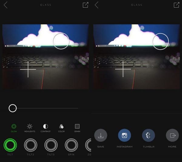 ایجاد بلور روی عکس در ios