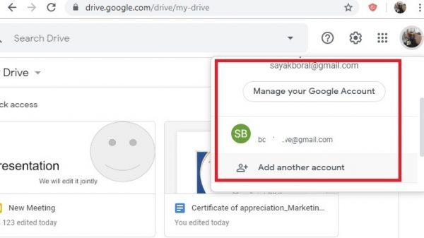 از چند حساب گوگل درایو با هم استفاده کنید