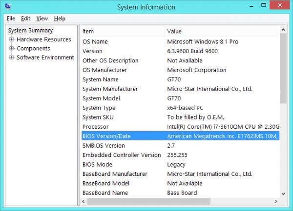 پیدا کردن نسخهی BIOS و بروز رسانی BIOS