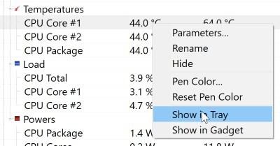 نظارت بر دمای CPU در ویندوز 10 با Open Hardware Monitor