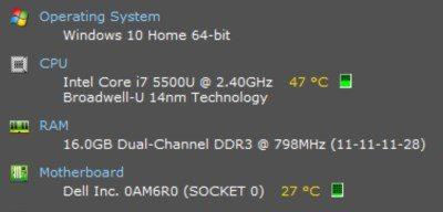 کنترل و مشاهده دمای پردازنده در ویندوز 10 با Speccy