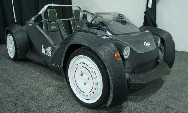 خودرو ساخته شده توسط چاپ سه بعدی از Local Motors در نمایشگاه خودرو دیتروید