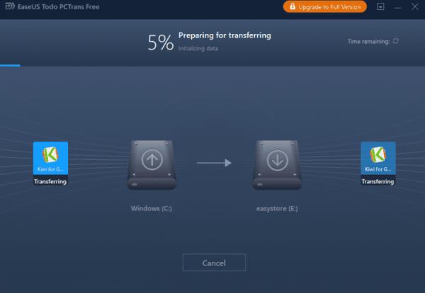 نرم افزار انتقال فایل اپ ها در ویندوز 10