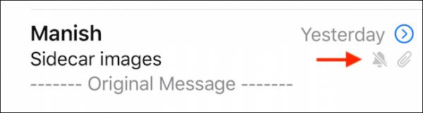سایلنت کردن یک ایمیل در آیفون و آی پد