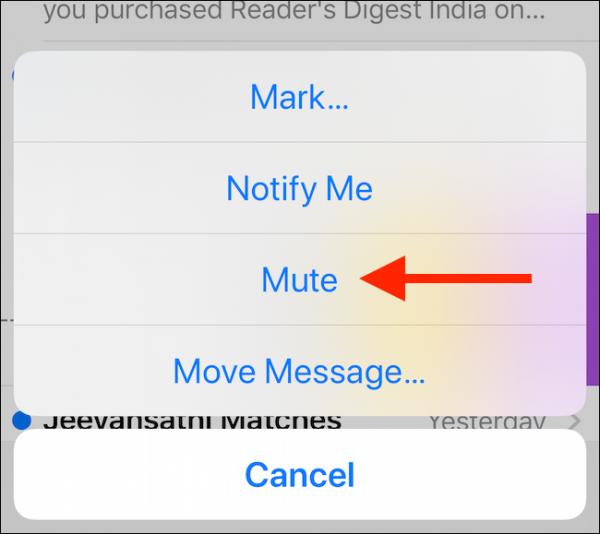 روش سایلنت کردن یک ایمیل در آیفون و آی پد