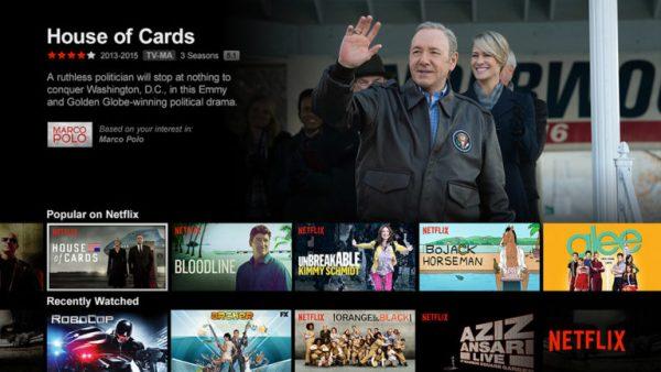 قسمت های پخش شده از یک فیلم در نتفلیکس