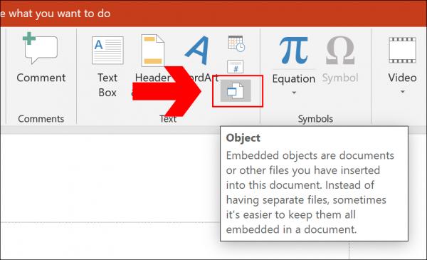 افزودن فایل پی دی اف به عنوان بخشی از فایل ارائه پاورپوینت