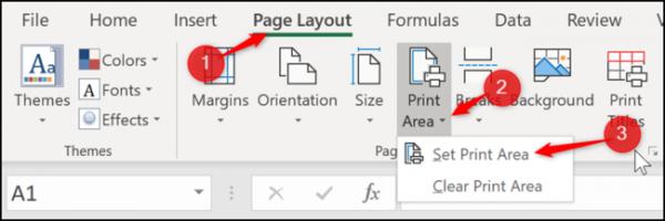 تنظیم منطقه چاپ در Microsoft Excel