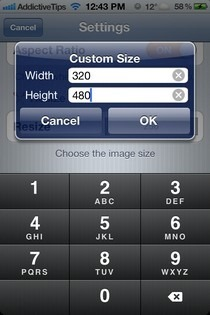 Photo Resizer-iOS-Custom