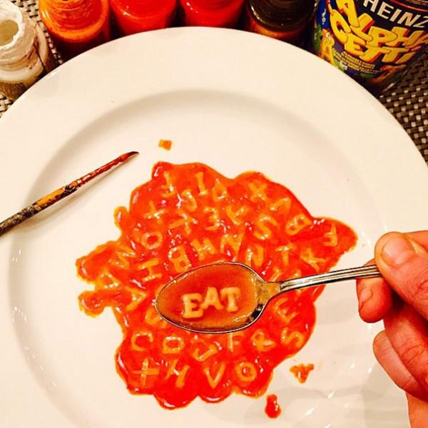 هنرنمایی جالب روی بشقاب های غذا