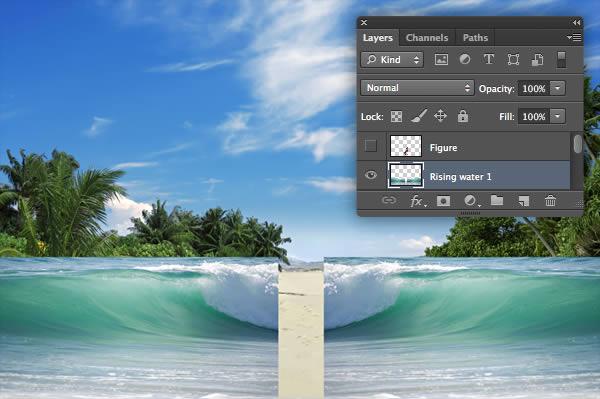 م بالا زده ایجاد یک تصویر شگفت انگیز ساحلی با استفاده از فتوشاپ