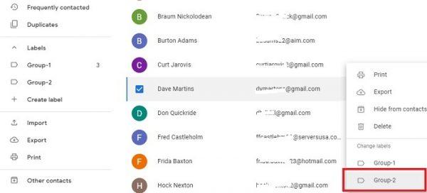 ایجاد لیبل جدید برای ایجاد گروه ایمیلی در جیمیل