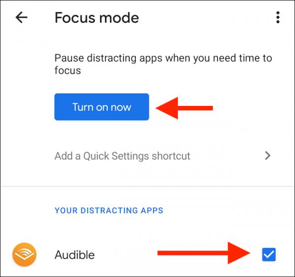 روش استفاده ازFocus Mode در اندروید 10