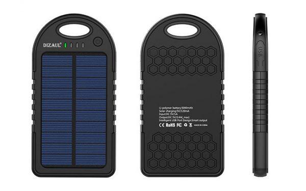 پاور بانک خورشیدی Solar Power Bank Dizaul