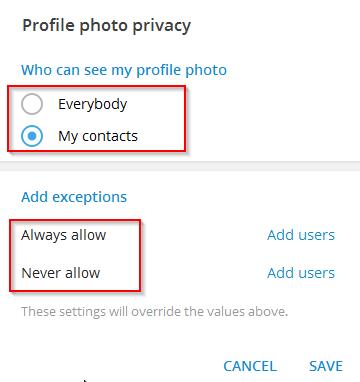 نحوه پنهان کردن عکس تلگرام در اندروید