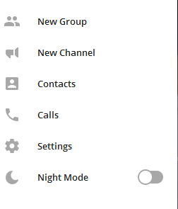خروج از تلگرام